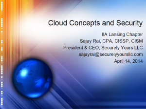 Cloud Concepts and Security