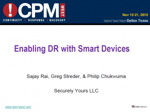 Enabling DR with Smart Devices