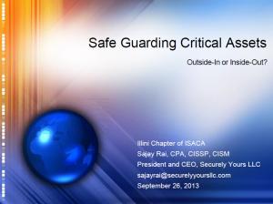 Safeguarding Critical Assets