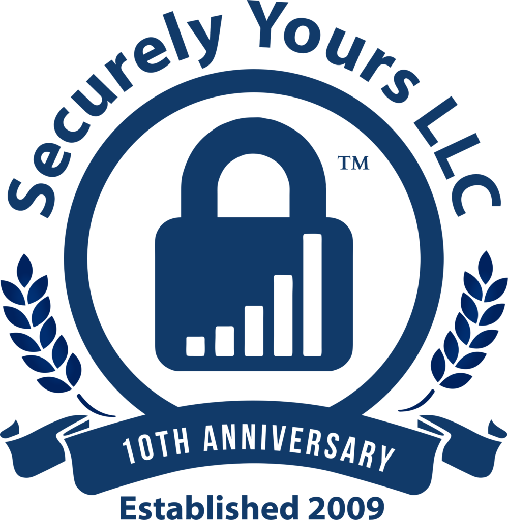 Securely Yours 10 year Anniversary logo